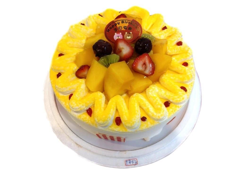 優仕紳-芒果狂想曲8吋生日蛋糕(單一宅配,不可與其他商品-起宅配)