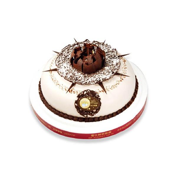 優仕紳-經典巧克力8吋生日蛋糕(單一宅配,不可與其他商品-起宅配)