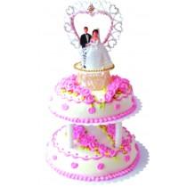 優仕紳鑽石拍檔雙層造型蛋糕