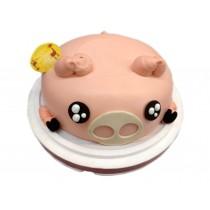 優仕紳粉紅豬造型蛋糕
